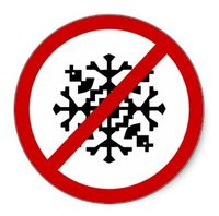 No-snow-sign