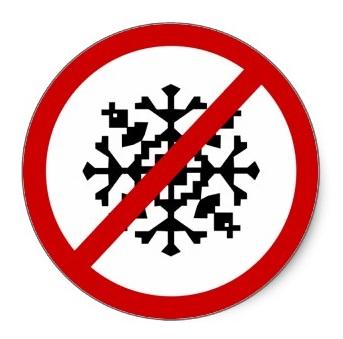 No-snow-sign