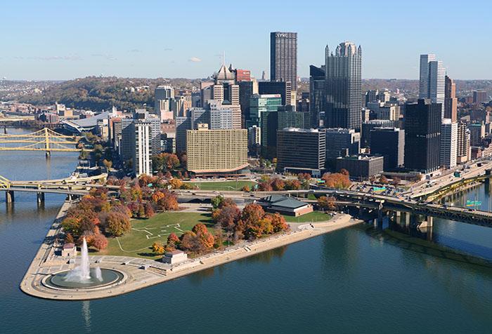 Pittsburgh office media carousel skyline triangle  700x476