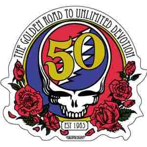 Grateful-dead-50th-anniversary-logo-sticker