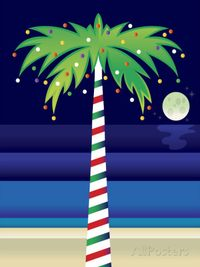 Palm-tree-decorated-with-christmas-lights