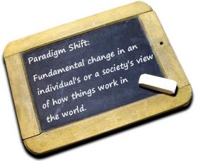 Chalk-board-paradigm-shift