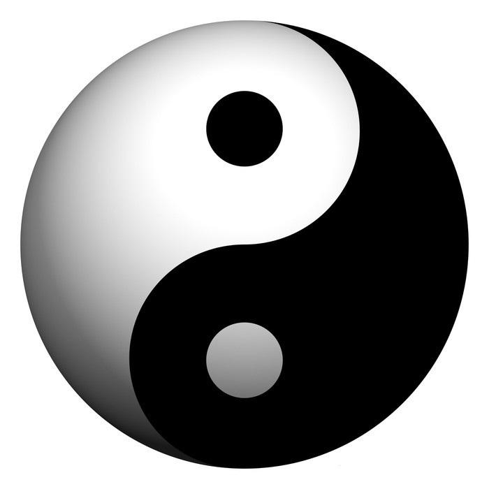 Stickers-yin-yang-sphere